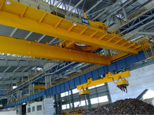 Normal Duty Electric Bridge Crane With Magnetic Chuck For Machine shops / General industrial