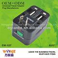 Wall socket 2 inde. ac dc adaptateur usb plug avec protection contre les surtensions fabriqués en usine chinoise( ch- 127)
