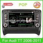 7 inch car dvd gps for Audi TT Support 3G WIF 1080P Video Player with Radio TV Bluetooth Ipod