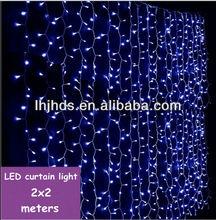 2x2M 640L led decoration curtain light of blue color