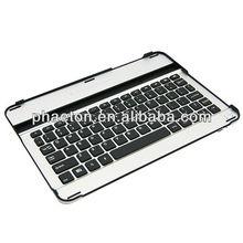 "aluminum wireless bluetooth keyboard case for Samsung galaxy tab 10.1"" P7500, for for samsung tab keyboard, keyboard aluminium"