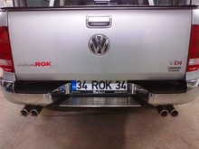VW Amarok Double Sided Twin Exhaust System
