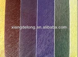 wood grain color change pu leather