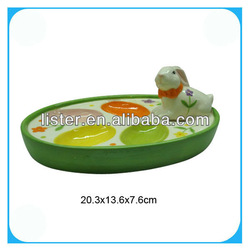 Ceramic easter rabbit fruit compote