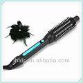 electric ionic quente temperatura visor led rodada de ondulação de cabelo escova