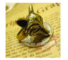 Copper Alloy Bronze Wolf Head Men's Ring Animail Ring Design For Men