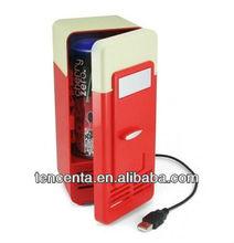 USB cooler&warmer fridge,USB coca cola fridge for drinks/coffee
