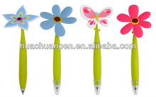novelty flower ball pen with different pattern on the top