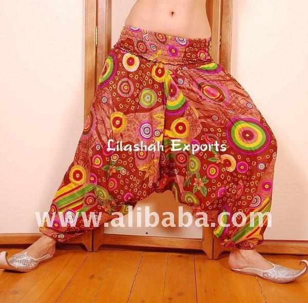 2283 Cotton Printed Harem Pants Hindu Ropa Wholesale sarouel Vetement Supplier India Pantalon Falda Harem Pants Alibaba Trouser