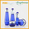 cosméticos botella de vidrio y frascos de conjunto azul cobalto