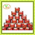 70 G - 4500 G de China caliente de la venta en lata de pasta de tomate, En lata aplastado tomates cherry secos
