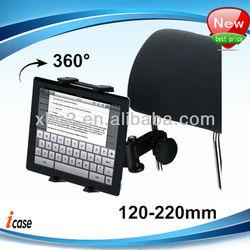 Universal 360 Degree Rotation Headrest Tablet Holder for iPad mini / iPad 4
