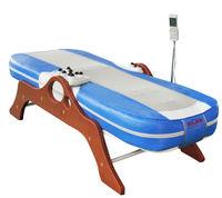 wooden leg thermal jade massage bed