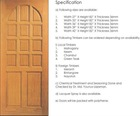 Engraving Solid Wooden Door