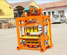 FOR family or small factory to do business! QT4-40 manual concrete hollow block making machinery