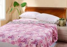 2013 new adults solid printing tarton plush blanket
