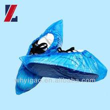 disposable cheap blue plastic shoe cover for clean