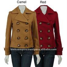 tan brown long winter wool coat