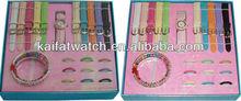popular interchangeable watch gift set/colorful interchangeable watch gift set/colorful interchangeable watch gift set with ring