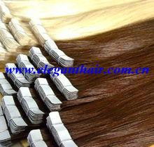 top grade 100% human hair virgin pu tape skin weft