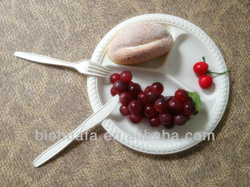 10 inch PSM disposable cornstarch bio plastic food tray