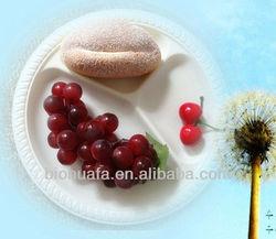 10 inch 3cp disposable cornstarch bio plastic food tray
