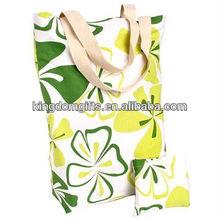 flower pattern cotton shopping bags