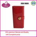 de alta calidad de color rojo elegent de cuero carteras de las mujeres