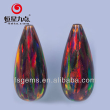 2GC03097A Gemstone Factory Supplies Black Cherry Color Drop Shape Synthetic Loose Opals