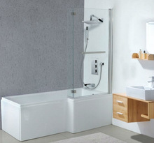 bathtub free standing with shower