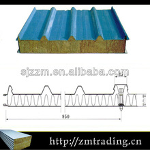 fireproof lightweight sandwich panel for roof and wall rockwool insulation