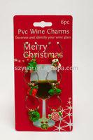 Unforgetable christmas plastic decorative wine glass of pvc