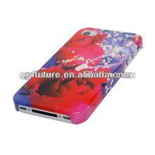 Hot sale rose design flower phone case for iphone 4