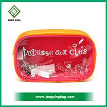 Fancy Clear Plastic Vinyl Cosmetic Packaging Bag