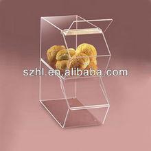 2 tiers acrylic cake display shelf