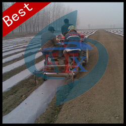 Double row tractor implement potato farming machine