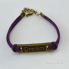 unisex rose gold plated alloy charmed feelings bracelets