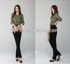 2013 Spring Fashion Size Long- Sleeve Lady Loose Chiffon Shirts Large Size Women Casual Soft Blouses Free Shipping C1301
