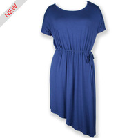 High Quality European fashionable simple Style pictures office dress for ladies