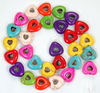 TB0190 Multicolor Turquoise Love Heart Beads