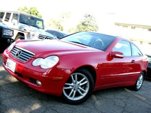 2002 MERCEDES-BENZ C230 KOMPRESSOR, COUPE, C-CLASS, RED/BLACK
