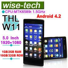 THL W11 1G 16G/ 2G 32G Monkey king 5'' MTK6589T Quad Core 1.5GHz FHD 1920*1080 2GB+32GB Dual camear 13.0 MP