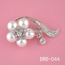 hot sale pearl rhinestone brooch in bulk for hijab DRD-044