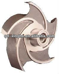 wear-resisting alloy steel casting impeller for water pump parts