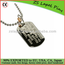 Military dog tag/ custom metal dog tag