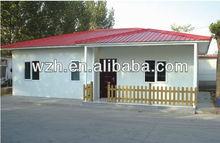 cheap prefabricated steel house with light steel frame & sandwich panels