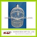 na412a105 branco pendurado gaiola de metal de malha de arame para decoração