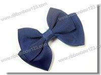 Grosgrain ribbon buns for the hair