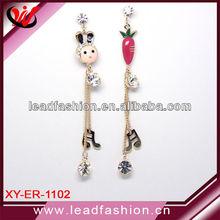 Bling bling trendy earring jewelry 14k gold plated lovely music note earring