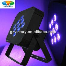 9x10w led flat par light dj lighting / 4 in1 quad-color led falt par